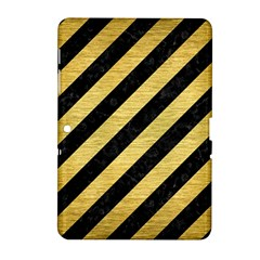 Stripes3 Black Marble & Gold Brushed Metal Samsung Galaxy Tab 2 (10 1 ) P5100 Hardshell Case  by trendistuff
