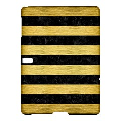 Stripes2 Black Marble & Gold Brushed Metal Samsung Galaxy Tab S (10 5 ) Hardshell Case  by trendistuff