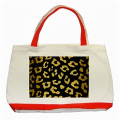 Skin5 Black Marble & Gold Brushed Metal (r) Classic Tote Bag (red) by trendistuff