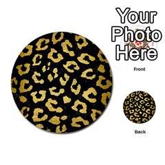 Skin5 Black Marble & Gold Brushed Metal (r) Multi Purpose Cards (round) by trendistuff