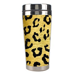 Skin5 Black Marble & Gold Brushed Metal Stainless Steel Travel Tumbler by trendistuff