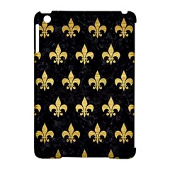 Royal1 Black Marble & Gold Brushed Metal (r) Apple Ipad Mini Hardshell Case (compatible With Smart Cover) by trendistuff