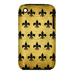 Royal1 Black Marble & Gold Brushed Metal Apple Iphone 3g/3gs Hardshell Case (pc+silicone) by trendistuff