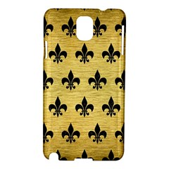 Royal1 Black Marble & Gold Brushed Metal Samsung Galaxy Note 3 N9005 Hardshell Case by trendistuff