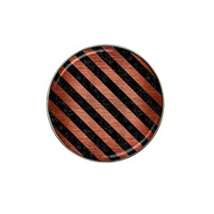 Stripes3 Black Marble & Copper Brushed Metal (r) Hat Clip Ball Marker (10 Pack) by trendistuff