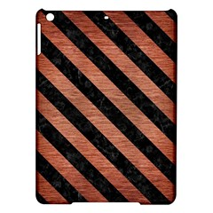Stripes3 Black Marble & Copper Brushed Metal (r) Apple Ipad Air Hardshell Case by trendistuff