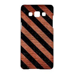 Stripes3 Black Marble & Copper Brushed Metal (r) Samsung Galaxy A5 Hardshell Case