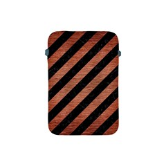 Stripes3 Black Marble & Copper Brushed Metal Apple Ipad Mini Protective Soft Case by trendistuff
