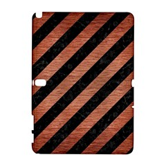 Stripes3 Black Marble & Copper Brushed Metal Samsung Galaxy Note 10 1 (p600) Hardshell Case by trendistuff