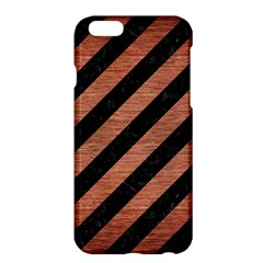 Stripes3 Black Marble & Copper Brushed Metal Apple Iphone 6 Plus/6s Plus Hardshell Case by trendistuff