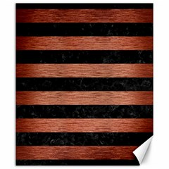 Stripes2 Black Marble & Copper Brushed Metal Canvas 20  X 24  by trendistuff