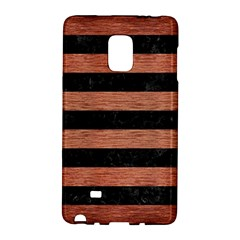 Stripes2 Black Marble & Copper Brushed Metal Samsung Galaxy Note Edge Hardshell Case by trendistuff