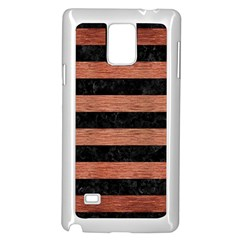 Stripes2 Black Marble & Copper Brushed Metal Samsung Galaxy Note 4 Case (white) by trendistuff