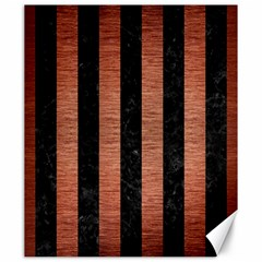 Stripes1 Black Marble & Copper Brushed Metal Canvas 20  X 24  by trendistuff