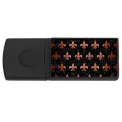 Royal1 Black Marble & Copper Brushed Metal (r) Usb Flash Drive Rectangular (4 Gb) by trendistuff