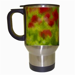 Poppy Iii Travel Mugs (white) by colorfulartwork