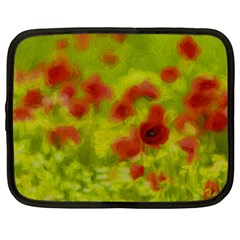 Poppy Iii Netbook Case (large) by colorfulartwork