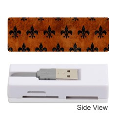 Royal1 Black Marble & Brown Burl Wood Memory Card Reader (stick) by trendistuff