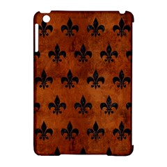 Royal1 Black Marble & Brown Burl Wood Apple Ipad Mini Hardshell Case (compatible With Smart Cover) by trendistuff