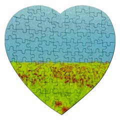 Poppy Iv Jigsaw Puzzle (heart) by colorfulartwork