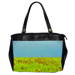 Poppy Iv Office Handbags (2 Sides)  by colorfulartwork