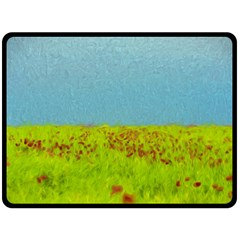 Poppy Iv Double Sided Fleece Blanket (large)  by colorfulartwork