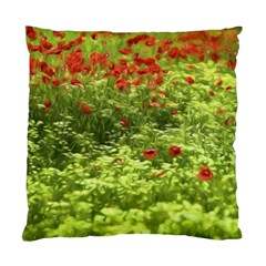 Poppy V Standard Cushion Case (two Sides) by colorfulartwork