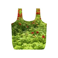 Poppy V Full Print Recycle Bags (s)  by colorfulartwork
