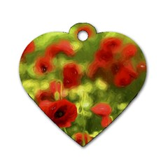Poppy Vi Dog Tag Heart (two Sides) by colorfulartwork