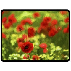 Poppy Vi Double Sided Fleece Blanket (large)  by colorfulartwork