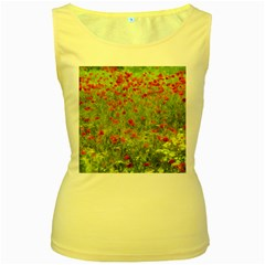 Poppy Vii Women s Yellow Tank Top by colorfulartwork