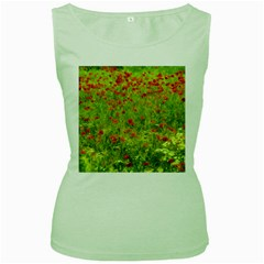 Poppy Vii Women s Green Tank Top by colorfulartwork
