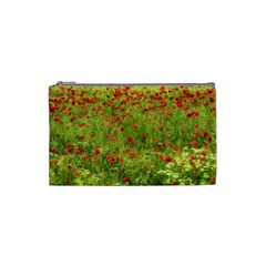 Poppy Vii Cosmetic Bag (small)  by colorfulartwork