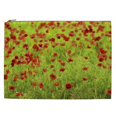 Poppy Viii Cosmetic Bag (xxl)  by colorfulartwork