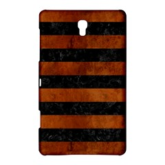 Stripes2 Black Marble & Brown Burl Wood Samsung Galaxy Tab S (8 4 ) Hardshell Case