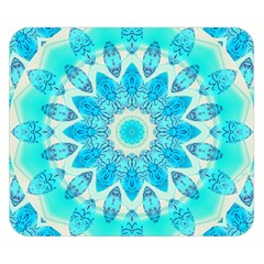 Blue Ice Goddess, Abstract Crystals Of Love Double Sided Flano Blanket (small)