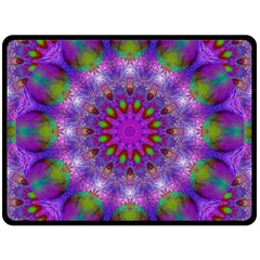 Rainbow At Dusk, Abstract Star Of Light Fleece Blanket (large)  by DianeClancy