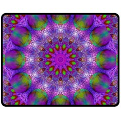 Rainbow At Dusk, Abstract Star Of Light Double Sided Fleece Blanket (medium)  by DianeClancy