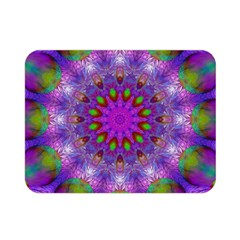 Rainbow At Dusk, Abstract Star Of Light Double Sided Flano Blanket (mini)  by DianeClancy