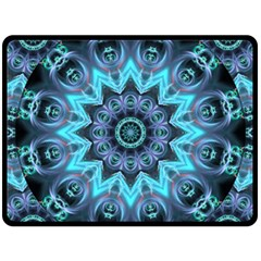 Star Connection, Abstract Cosmic Constellation Fleece Blanket (large)