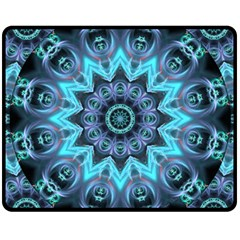 Star Connection, Abstract Cosmic Constellation Double Sided Fleece Blanket (medium)  by DianeClancy