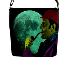 Sherlock Holmes Flap Messenger Bag (l)  by icarusismartdesigns
