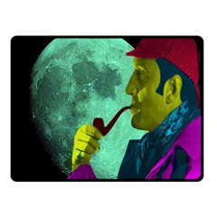 Sherlock Holmes Double Sided Fleece Blanket (small)  by icarusismartdesigns