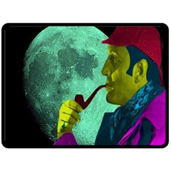 Sherlock Holmes Double Sided Fleece Blanket (large)  by icarusismartdesigns