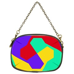 Colorful Misc Shapes                                                  	chain Purse (two Sides) by LalyLauraFLM