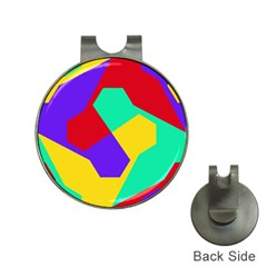 Colorful Misc Shapes                                                  			golf Ball Marker Hat Clip by LalyLauraFLM