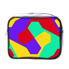 Colorful Misc Shapes                                                  			mini Toiletries Bag (one Side) by LalyLauraFLM