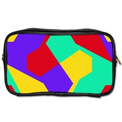 Colorful Misc Shapes                                                  			toiletries Bag (one Side) by LalyLauraFLM