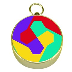 Colorful Misc Shapes                                                  			gold Compass by LalyLauraFLM