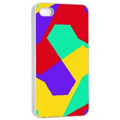 Colorful Misc Shapes                                                  			apple Iphone 4/4s Seamless Case (white) by LalyLauraFLM